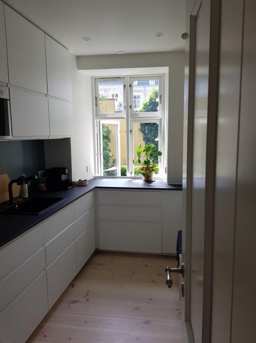 Nyt køkken med vindue
