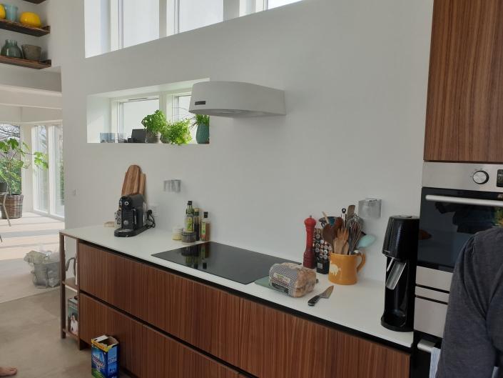 køkken i tilbygning