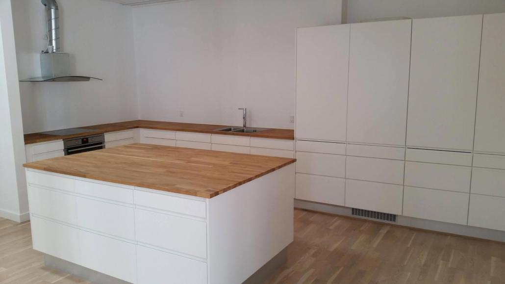 Nyt hvidt køkken