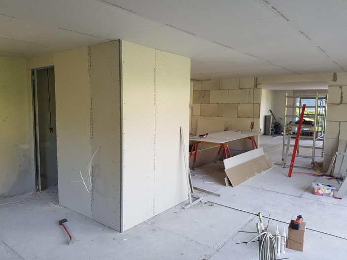 Hus under renovering