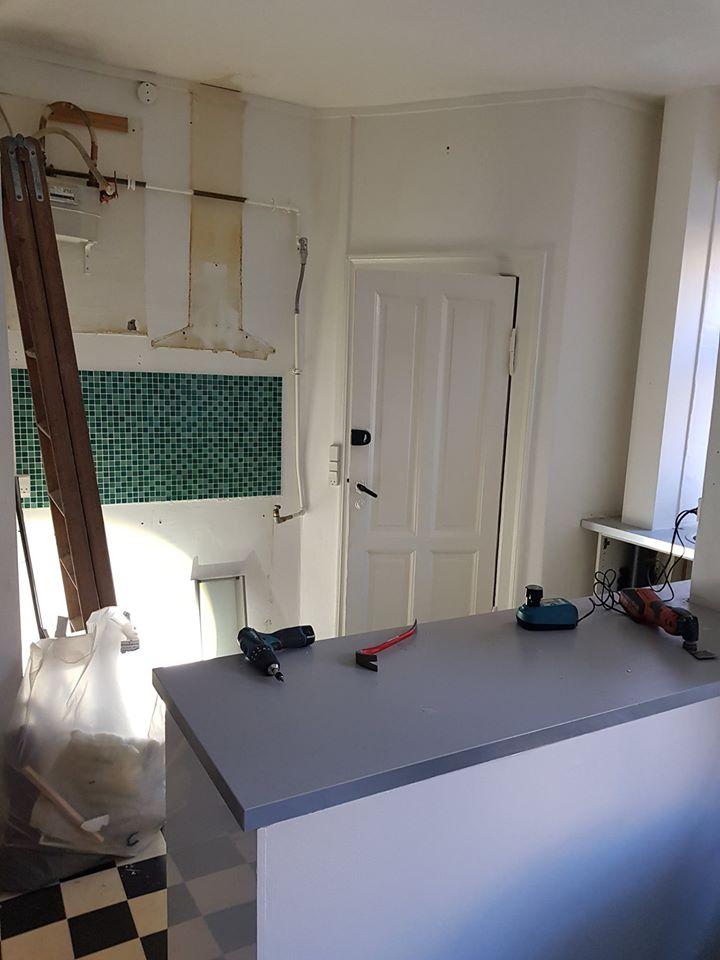 Renovering af køkken i lejlighed