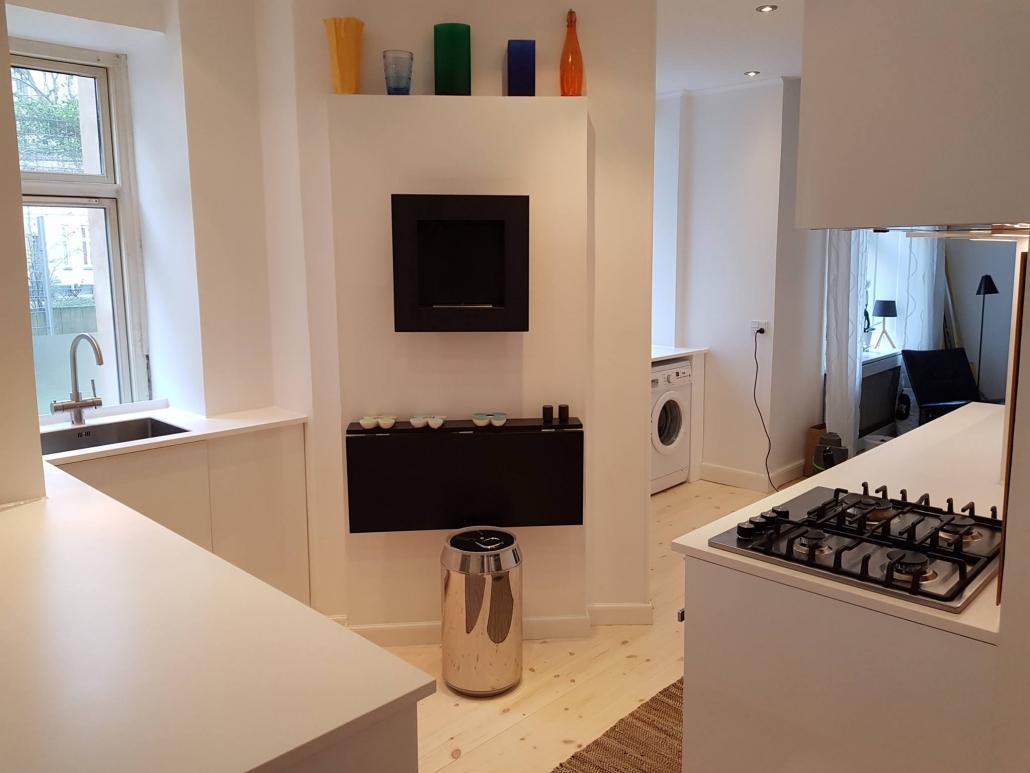 Nyt køkken i sammenlagt lejlighed