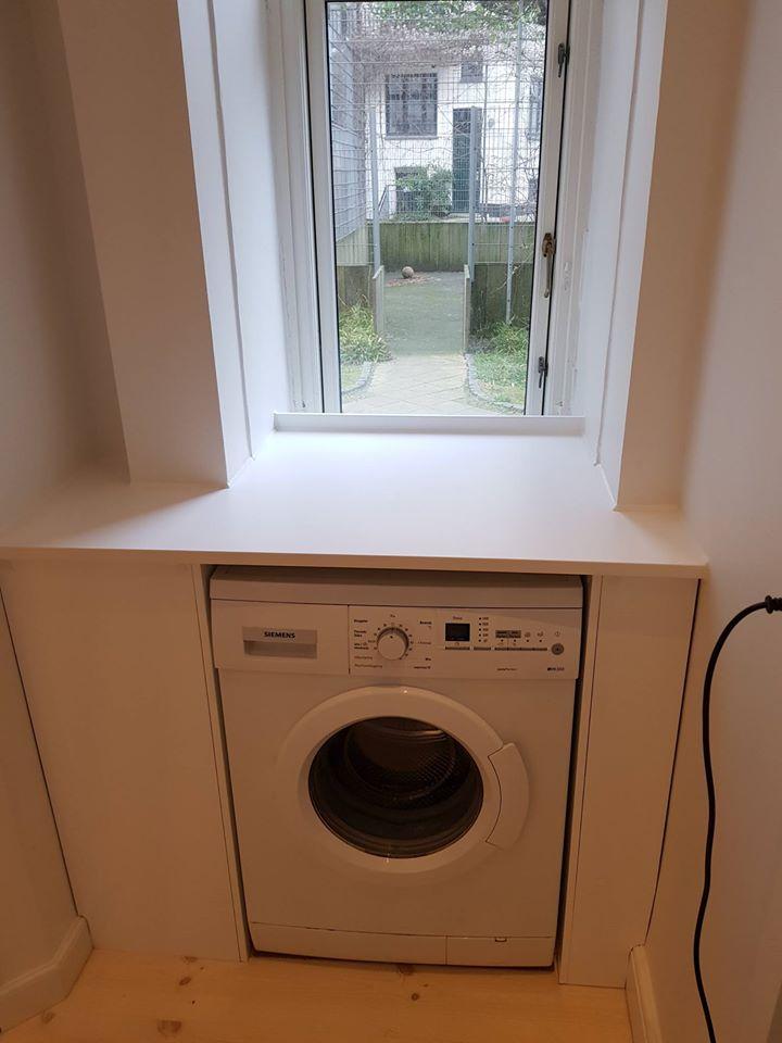 Vaskemaskine i forbindelse med renovering